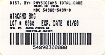 image of 8 mg package label