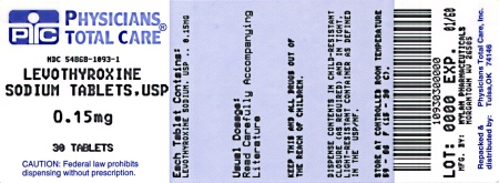 image of 150 mcg package label