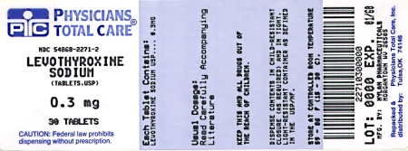 image of 300 mcg package label