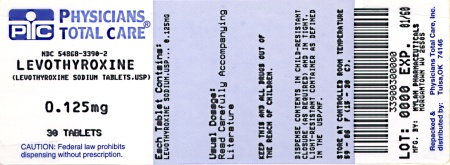 image of 125 mcg package label