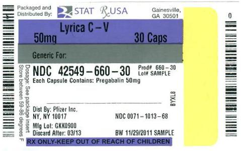 PRINCIPAL DISPLAY PANEL NDC: 42549-612-30 Lyrica 75mg #30 tablets