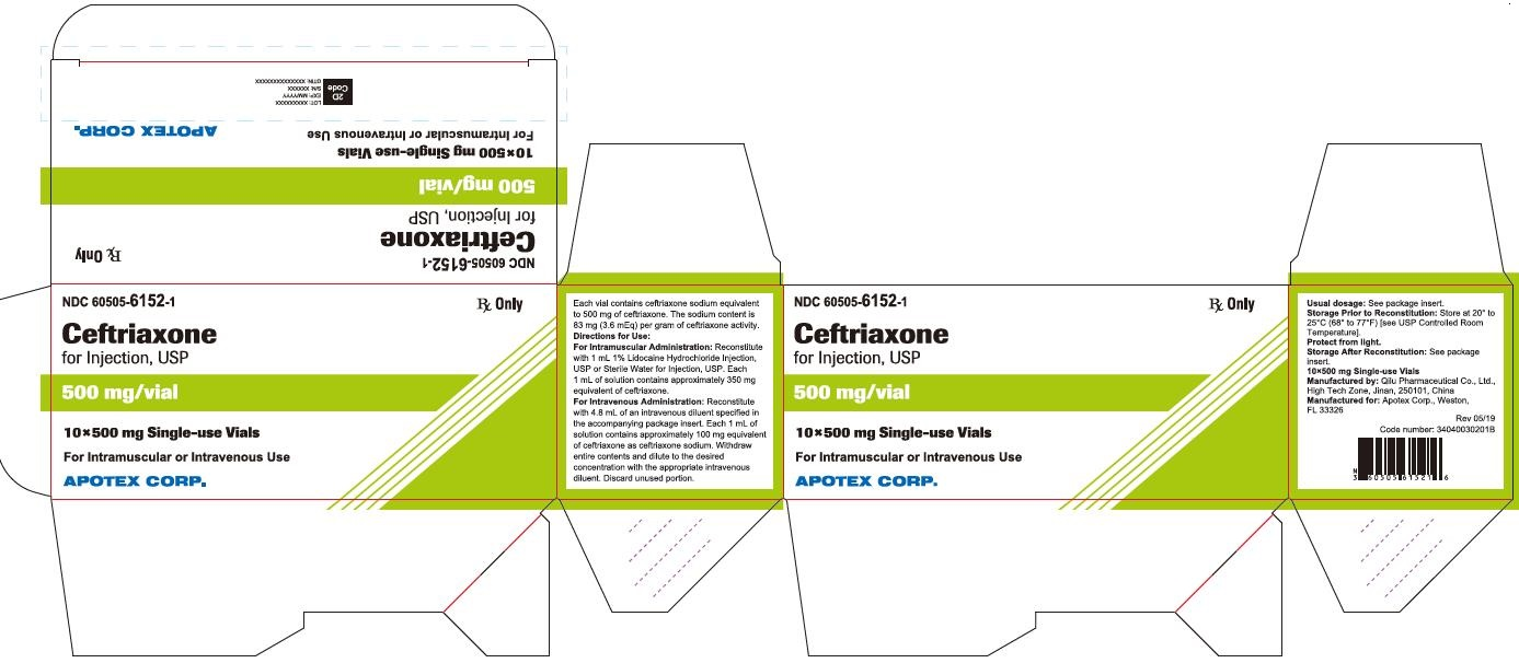 Ceftriaxone for Injection 500 mg Carton Label (10 Pack)