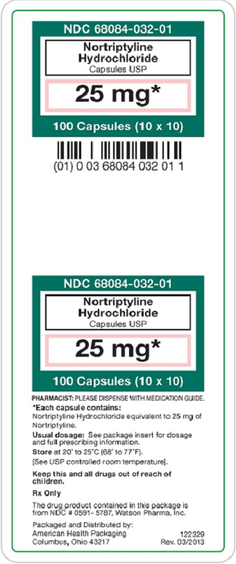 25 mg Nortriptyline Hydrochloride Carton