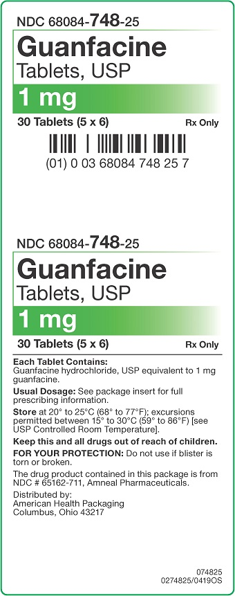 1 mg Guanfacine Tablets Carton