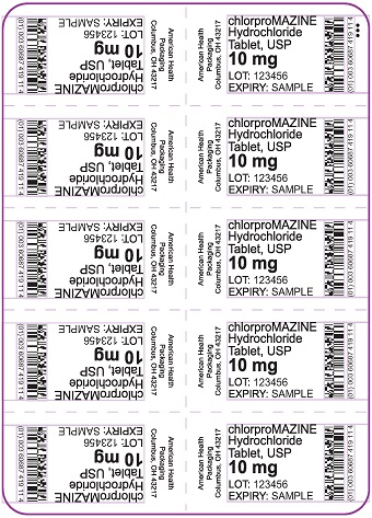 10 mg chlorproMAZINE HCl Tablet Blister