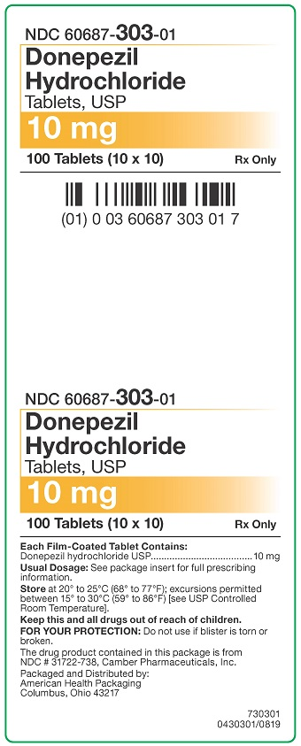 10 mg Donepezil HCl Tablets Carton