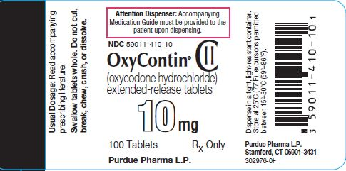 Oxycontin 10 mg label