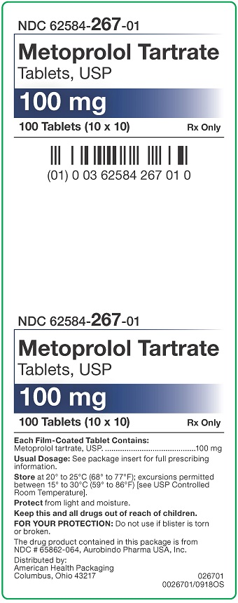 100 mg Metoprolol Tartrate Tablets Carton