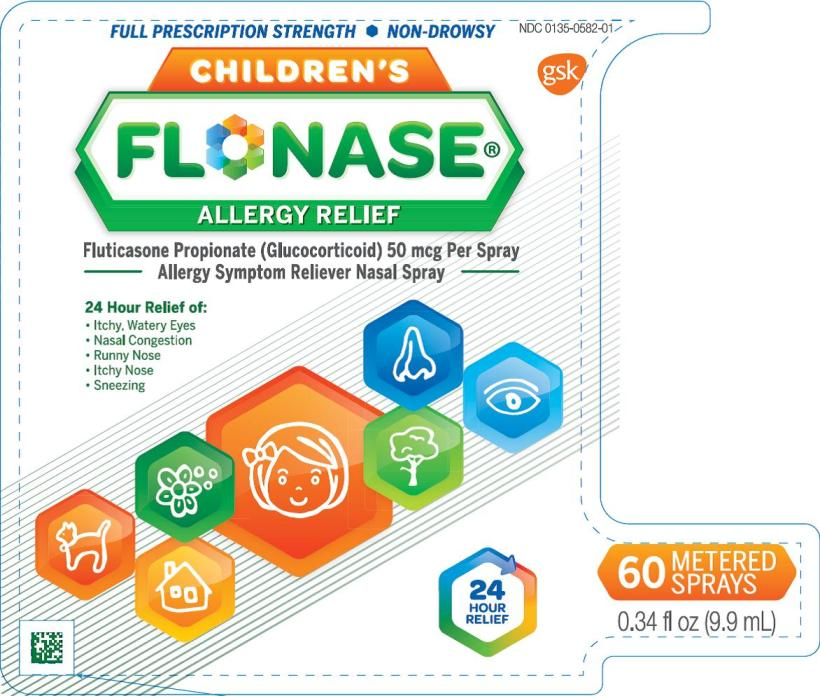 Flonase Childrens 60 dose inlay card