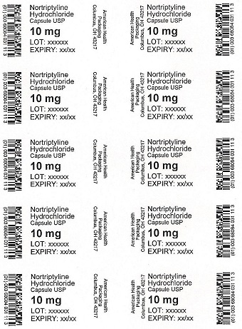 10 mg Nortriptyline Hydrochloride Blister