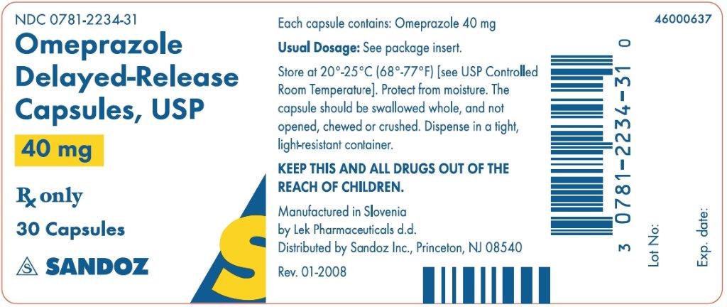 Is Omeprazole | Sandoz Inc safe while breastfeeding