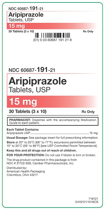 15 mg Aripiprazole Tablets Carton