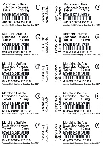15 mg Morphine Sulfate Extended-Release Tablet Blister