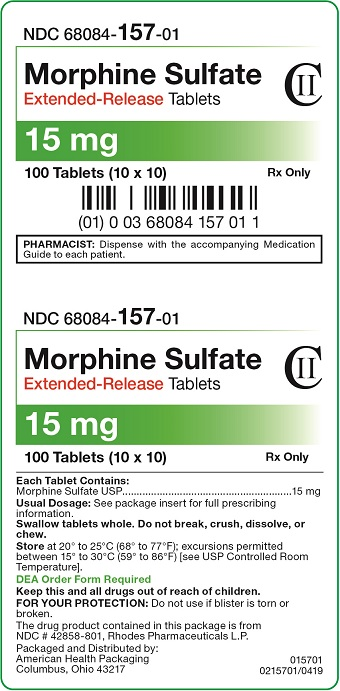 15 mg Morphine Sulfate Extended-Release Tablets Carton