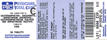 image of 15 mg package label