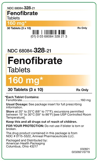 160 mg Fenofibrate Tablets Carton