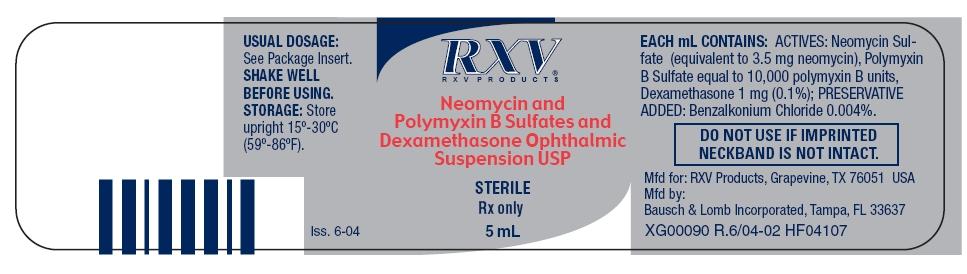 Neomycin Polymyxin B Sulfates And Dexamethasone while Breastfeeding