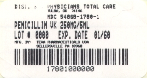 Penicillin V Potassium for Oral Solution USP 250 mg per 5 mL Label