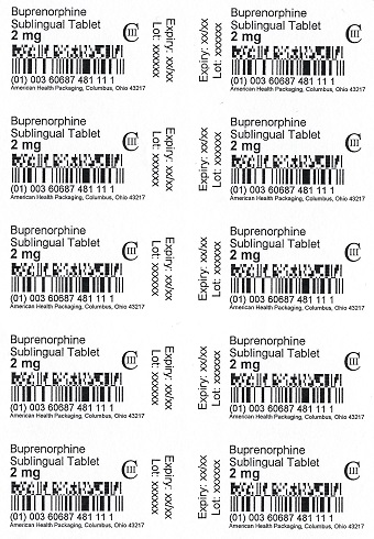 2 mg Buprenorphine Sublingual Tablet Blister