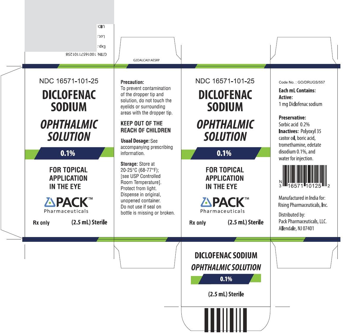 Diclofenac Sodium Ophthalmic Solution 0 1
