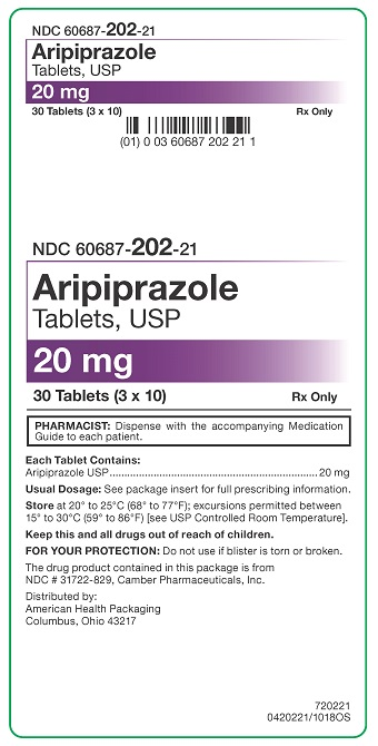 20 mg Aripiprazole Tablets Carton