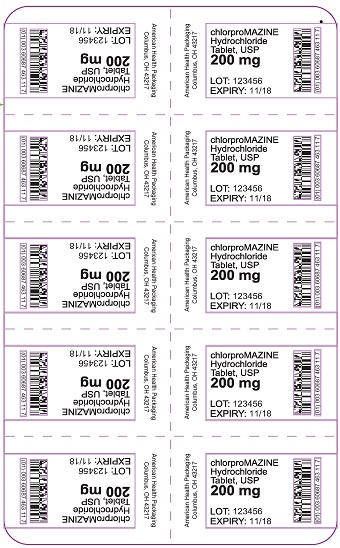 200 mg chlorproMAZINE HCl Tablet Blister