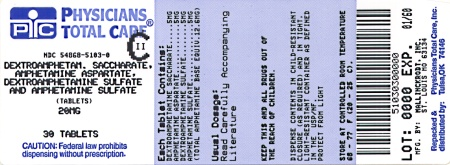image of 20 mg package label