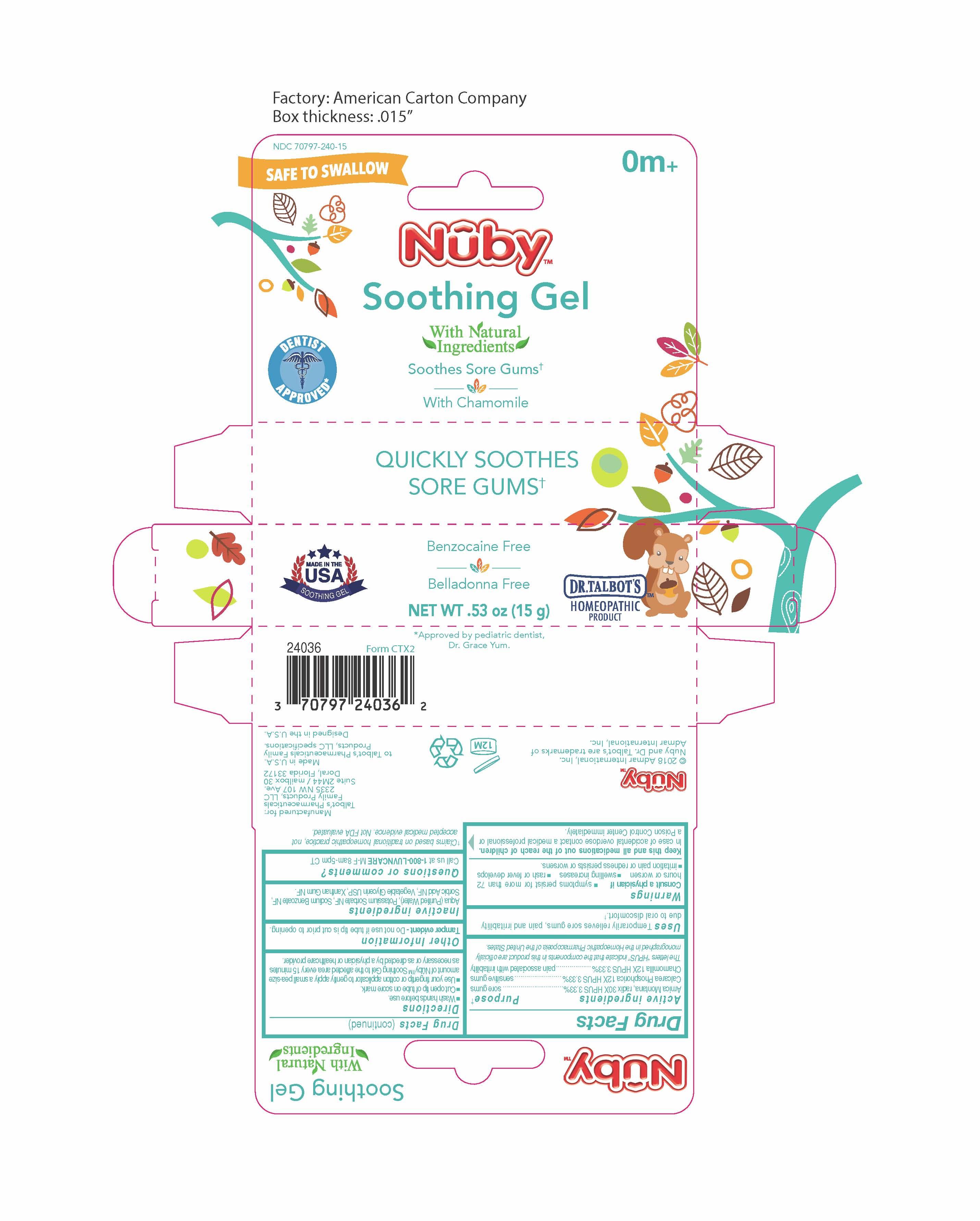 Nuby Soothing Gel   Matricaria Recutita 12 [hp_x], Arnica Montana Root 30 [hp_x], Calcium Cation 12 [hp_x] while Breastfeeding