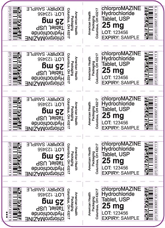 25 mg chlorproMAZINE HCl Tablet Blister