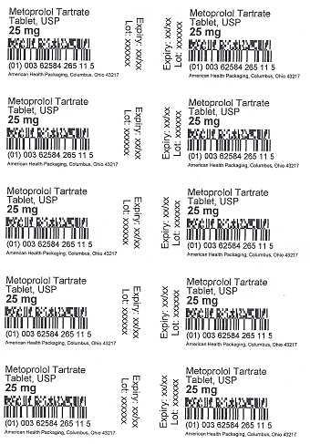 25 mg Metoprolol Tartrate Tablet Blister