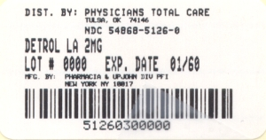 image of 2 mg package label