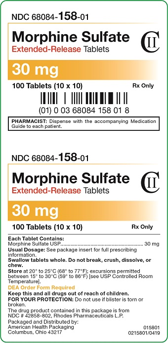 30 mg Morphine Sulfate Extended-Release Tablets Carton