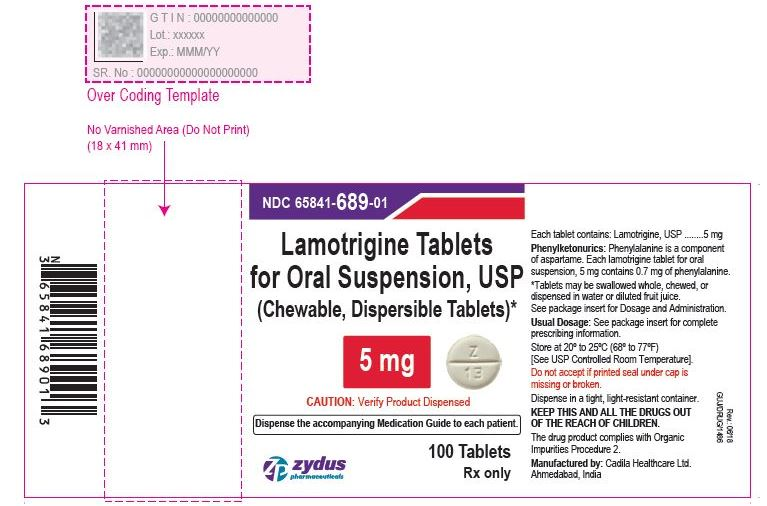 Lamotrigine Tablets (Chewable, Dispersible), 5 mg  Lamotrigine Tablets (Chewable, Dispersible), 5mg