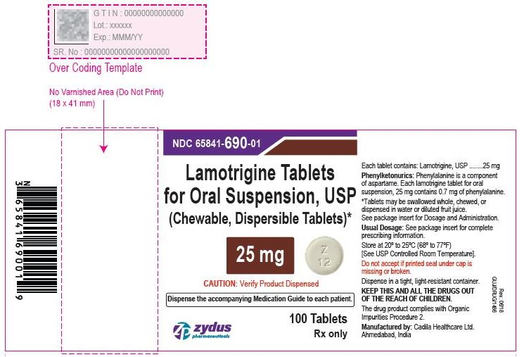 Lamotrigine Tablets (Chewable, Dispersible), 25 mg