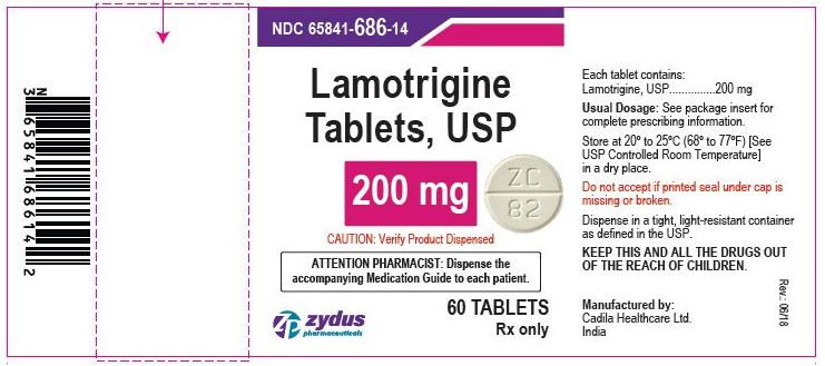 Lamotrigine Tablets USP, 200 mg