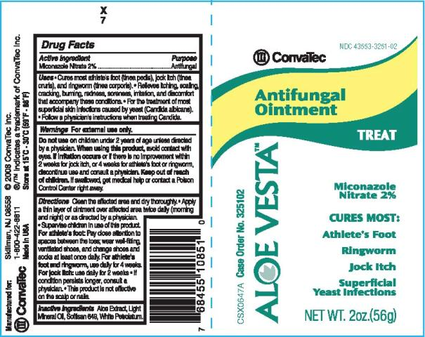 Aloe Vesta Antifungal Ointment Label