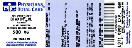 image of 500 mg XL package label