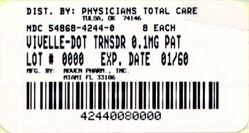 image of 0.1 mg package label