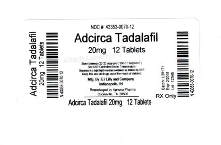 Bottle Label 20mg