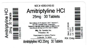 Amitriptyline HCl 25 mg Label