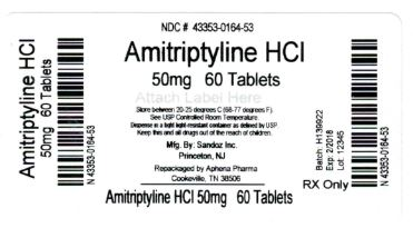 Amitriptyline HCl 50 mg Label