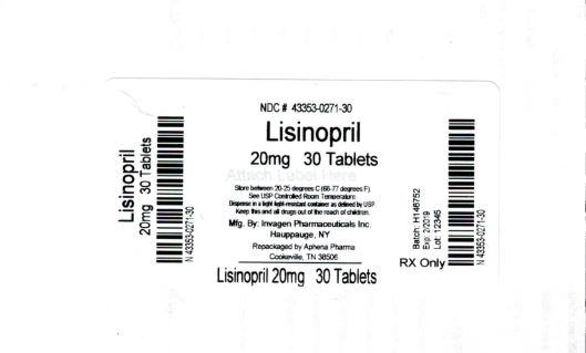 Lisinopril Tablets 20mg 30 Tablets
