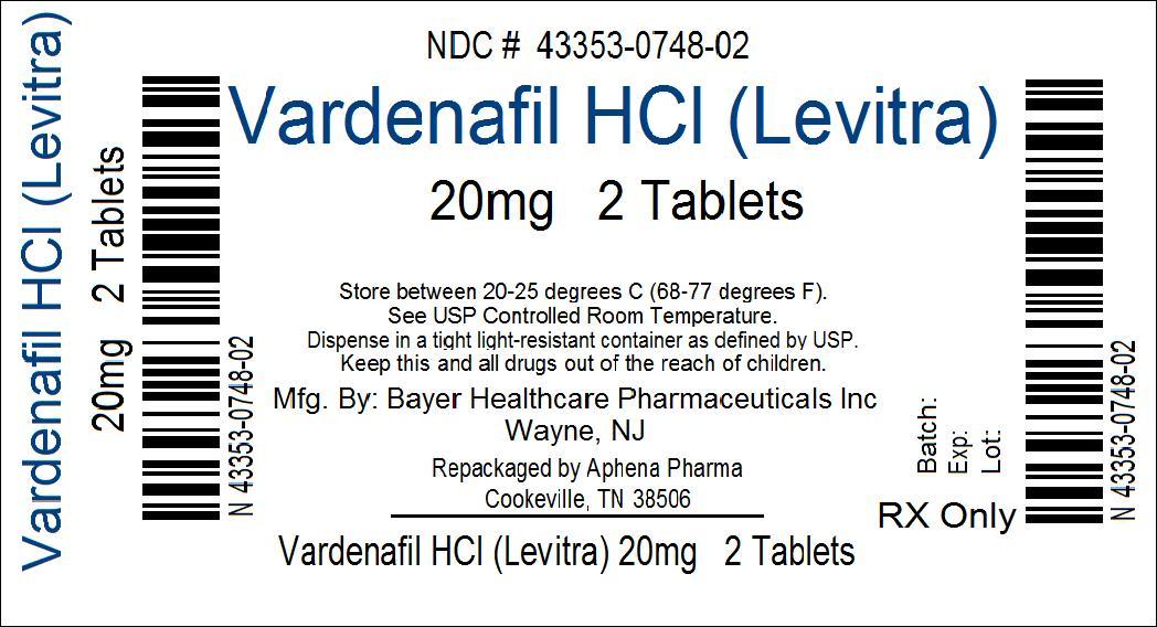 Levitra 20 mg Vardenafil tabletter