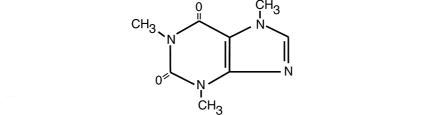 Structural formula for Caffeine