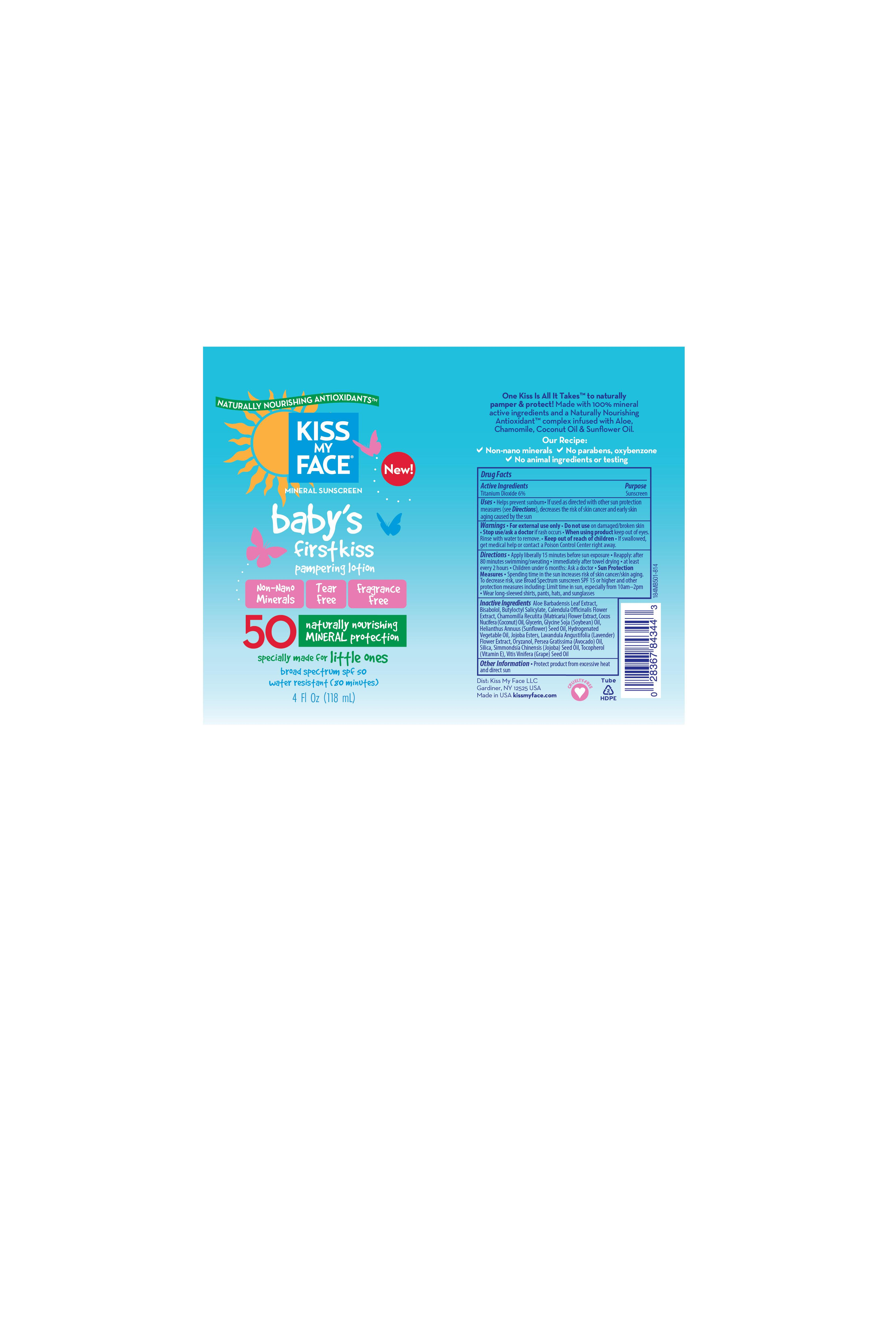 Babys First Kiss Spf 50 Broad Spectrum | Sunscreen Lotion while Breastfeeding