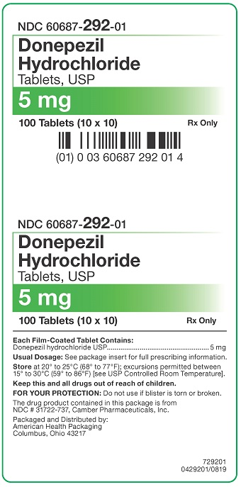 5 mg Donepezil HCl Tablets Carton