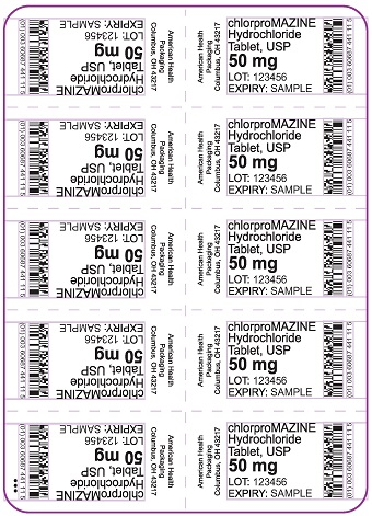 50 mg chlorproMAZINE HCl Tablet Blister