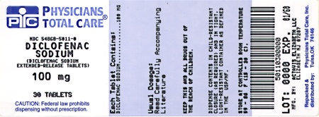 image of 100 mg package label