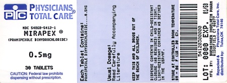 image of 0.5 mg package label