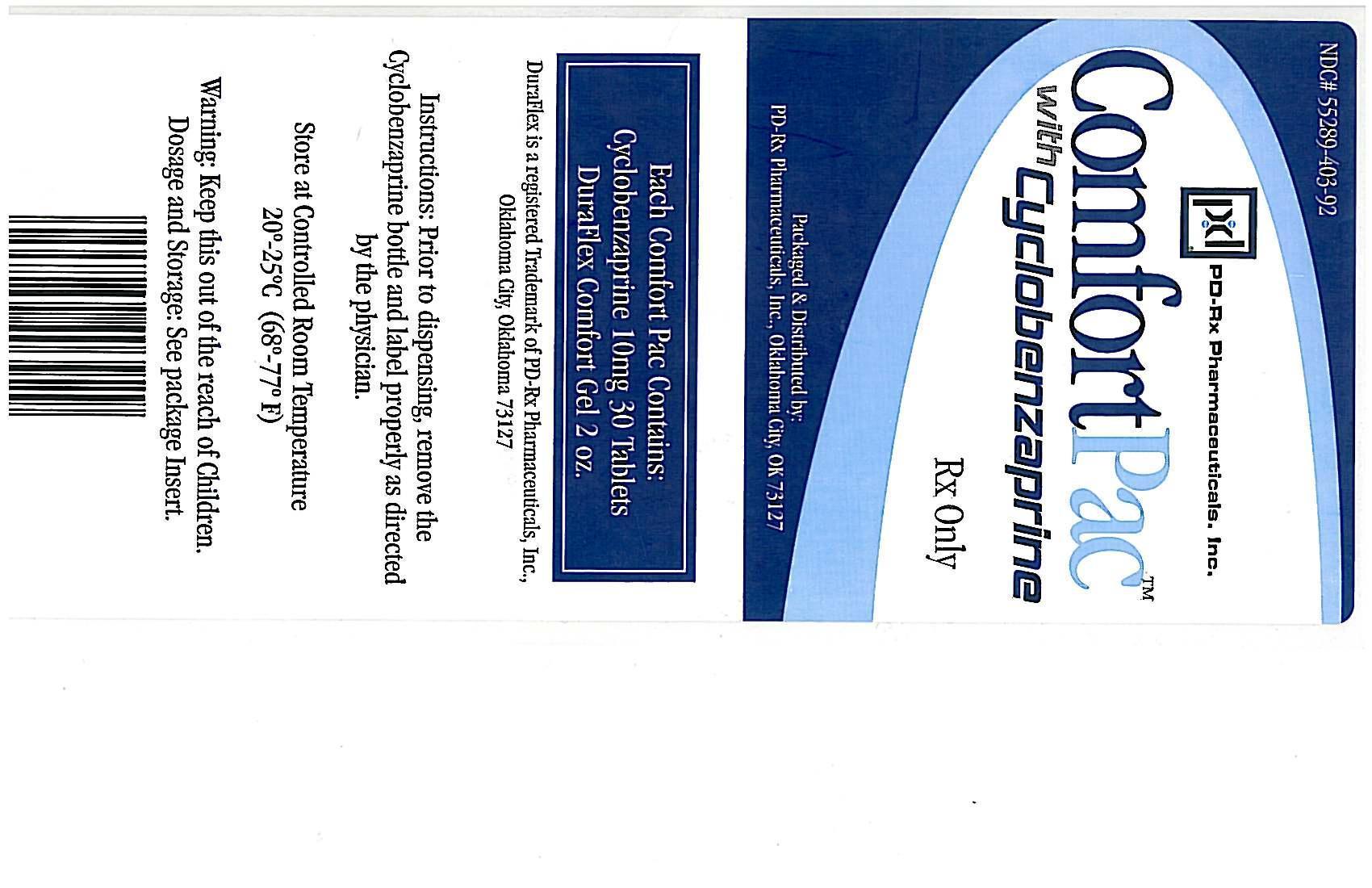 Comfort Pac With Cyclobenzaprine   Cyclobenzaprine Hydrochloride Kit Breastfeeding